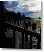 Promenade At The Hudson River New York City Metal Print