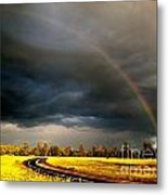 Promise On The Mother Road Rt 66 Flagstaff Az Metal Print