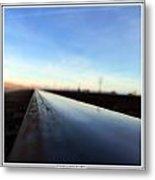 Promontory Rails Metal Print