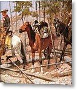 Prospecting For Cattle Range Metal Print