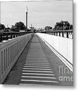 Prosser Bridge Perspective - Black And White Metal Print