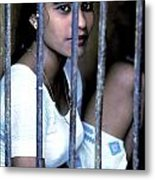Prostitute In Cage Metal Print