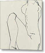 Prostrate Female Nude Metal Print