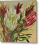 Protea Bunch Metal Print