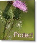 Protect Nature Metal Print
