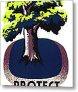 Protect Your Parks Wpa Metal Print
