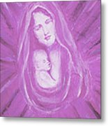 Protecting Love Of The Mother  Metal Print