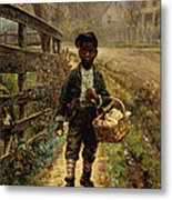Protecting The Groceries Metal Print by Edward Lamson Henry