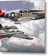 Protecting The Heavies Metal Print