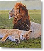 Protecting The Queen Metal Print