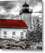 Protector Of The Harbor - Sand Point Lighthouse Metal Print