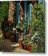 Provencal Alley Metal Print