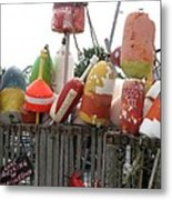 Provencetown Lobster Buoys Metal Print