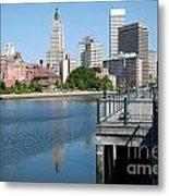 Providence Skyline And Riverfront Metal Print