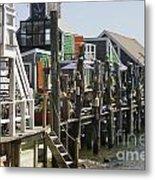 Provincetown Docks Metal Print