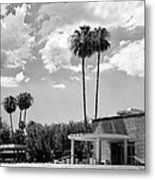 Ps City Hall Front Bw Palm Springs Metal Print