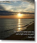 Psalm 119-105 Your Word Is A Lamp Metal Print