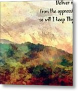 Psalm 119 134 Metal Print