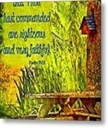 Psalm 119 138 Metal Print