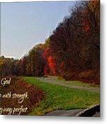 Psalm 18 32 Metal Print