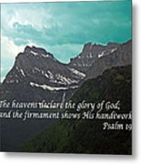Psalm 19 1 On The Rocky Mountains Metal Print