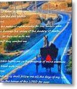 Psalm 23 Country Roads Metal Print