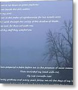 Psalm 23 Foggy Morning Metal Print