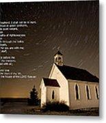 Psalm 23 Night Photography Star Trails Metal Print
