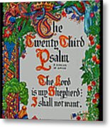 Psalms 23-1 Metal Print