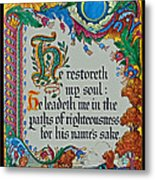 Psalms 23-3 Metal Print