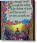 Psalms 23-4a Metal Print