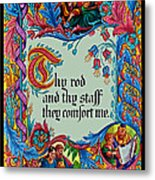 Psalms 23-4b Metal Print