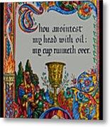 Psalms 23-5b Metal Print