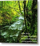 Psalms 73-26 Metal Print