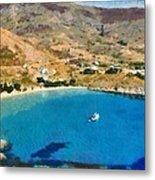 Psili Ammos Beach In Serifos Island Metal Print