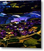 Psychadelic Aerial View Metal Print