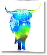 Psychedelic Bovine #2 Metal Print by Pixel  Chimp