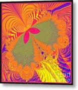 Psychedelic Butterfly Explosion Fractal 61 Metal Print