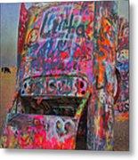Psychedelic Cadillac Metal Print