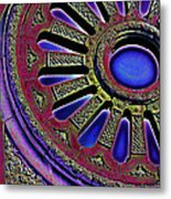 Psychedelic Church Window Metal Print