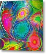 Psychedelic Colors Metal Print