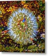 Psychedelic Dandelion Metal Print