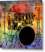 Psychedelic Drum Set Metal Print