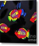 Psychedelic Flying Fish Metal Print by Kaye Menner