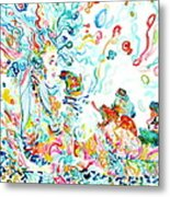 Psychedelic Goddess With Toads Metal Print