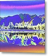 Psychedelic Lake Matheson New Zealand 2 Metal Print