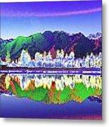 Psychedelic Lake Matheson New Zealand Metal Print
