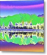 Psychedelic Mirror Lake New Zealand 3 Metal Print