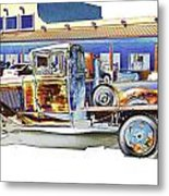 Psychedelic Old Pickup Truck Metal Print