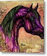Psychedelic Purple Metal Print